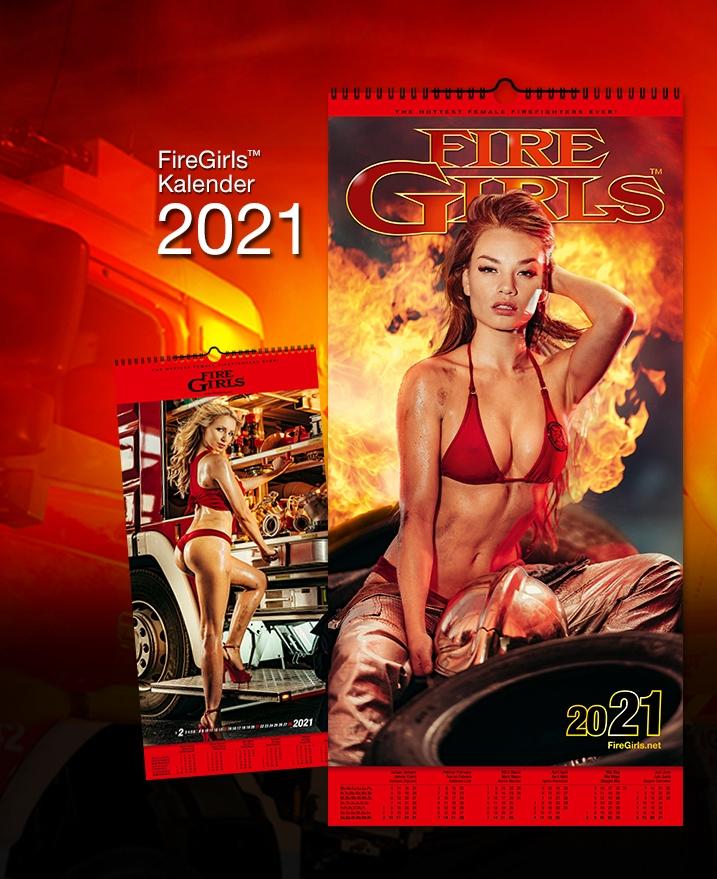 Feuerwehrkalender Firegirls 2020 Größe 29,5 x 61 cm mit 12 kalendermotiven